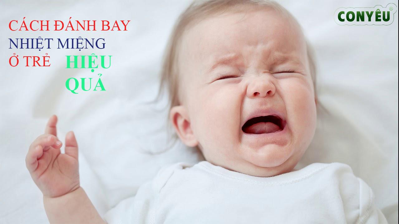 Nguyên nhân và cách đánh bay nhiệt miệng hiệu quả ở trẻ