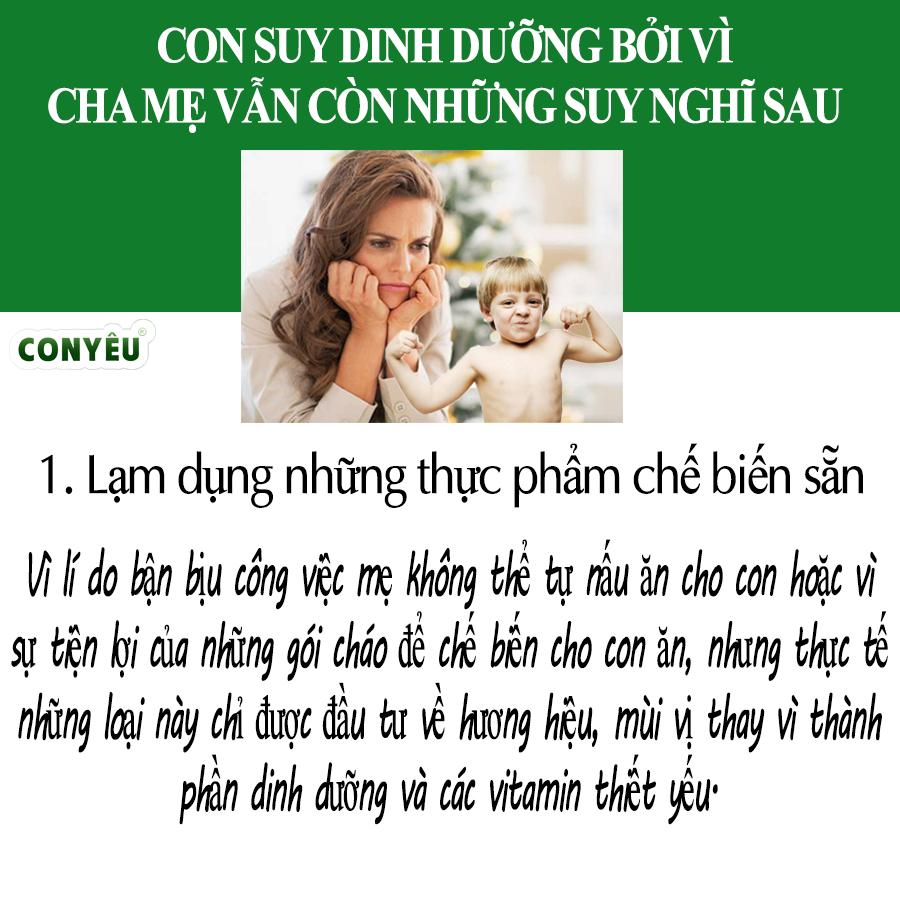 CON NGÀY MỘT SUY DINH DƯỠNG NẾU CHA MẸ VẪN CÒN LỐI SUY NGHĨ SAU